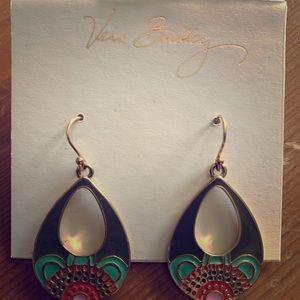 Vera Bradley Enamel Earrings, gently used